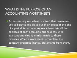 a worksheet for a service business accounting u2013 chapter ppt download