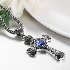 vintage cross necklace images Buy boniskiss gothic necklace men 39 s vintage cross jpg