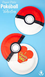 hinged paper plate pokeball craft kids craft room