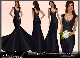 bridal party dresses second marketplace pippa bridesmaid dress black wedding