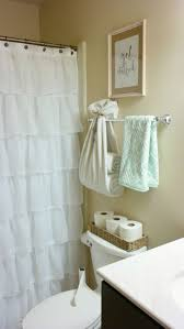 cream ruffle shower curtain showy inch with buttonhole in orange