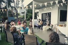nature vs culture whimsical backyard baby shower