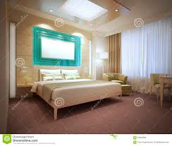 luxury modern hotel room in light colors stock photo image 64862698