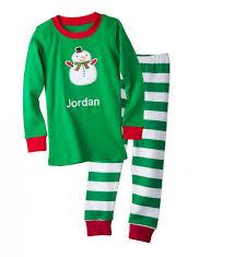 personalized snowman pajamas cwdkids
