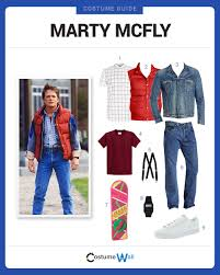 halloween costume white button up shirt dress like marty mcfly costume halloween and cosplay guides