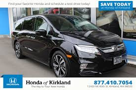 new 2018 honda odyssey elite mini van passenger in kirkland