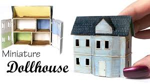 How To Make Dollhouse Furniture Out Of Household Items Simple Miniature Dollhouse Tutorial Youtube
