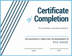 examples of certificates of completion printed certificates a plan in place