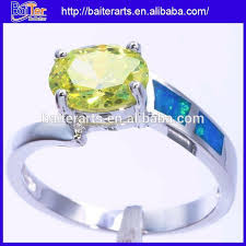 opal rings wholesale images Wholesale women jewelry 925 sterling silver peridot blue fire opal jpg