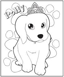 princess puppy coloring pages coloring