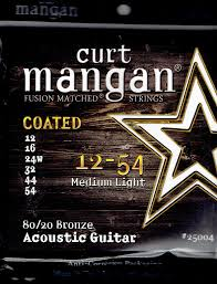 Medium Light Guitar Strings by Curt Mangan Acoustic Guitar Strings String Baby