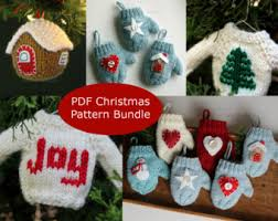 knit pattern tree mini sweater ornament knitting