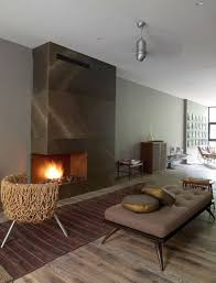 living room japanese style contemporary fireplace hardwood