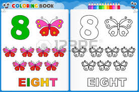 coloring page number ten with colorful sample printable worksheet