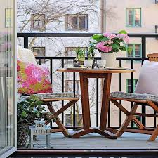 alluring studio apartment balcony furniture for small space with