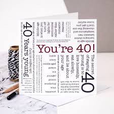 40th birthday card u0027you u0027re 40 u0027 quotes by coulson macleod
