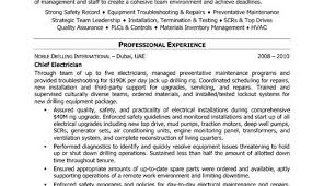 Electricians Resume Electrician Resume Template Residential Electrician Resume