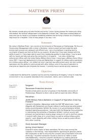 Game Warden Resume Examples by Sergeant Resume Samples Visualcv Resume Samples Database