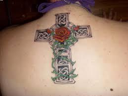tattoo back cross celtic cross tattoo on upper back for women photo 3 photo
