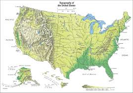 Physical Map United States Maps Us Map Mountains Landforms Of North America Mountain Ranges