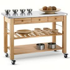 stainless steel top kitchen cart lambourn three drawer stainless steel top kitchen trolley harts of