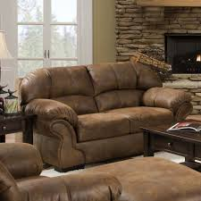 Antique Leather Sofas Cozy Living Room Design With Brown Worn Leathered Couches And
