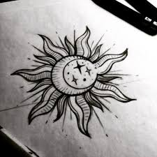 image result for mini suns drawing tattoos