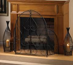 unique fireplace screen ideas the good wrought iron fireplace screens