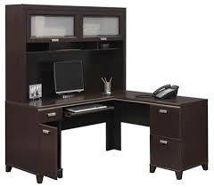 Corner Office Desk With Hutch Stylish Computer Desk With Hutch Black Great Office Design