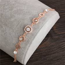 rose link bracelet images Rose gold plated chain link bracelet for women ifancee jpg