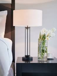 black glass lamp table iris 1 light table lamp in black glass white