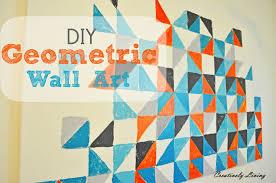 diy geometric wall art nursery project 1 creatively living blog