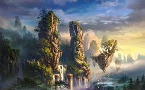 cloudy world wallpapers fantasy world wallpaper hd backgrounds pic