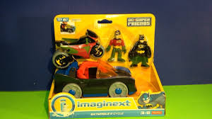 imaginext batmobile with lights batmobile cycle toys from imaginext batman robin figures plus