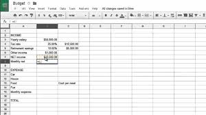 How To Make Budget Spreadsheet How To Create A Budget With Simple Spreadsheet Commands Youtube