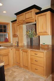 Kitchen Cabinets Maple Wood by Interesting Dark Brown Maple Wood Crown Molding For Cabinets