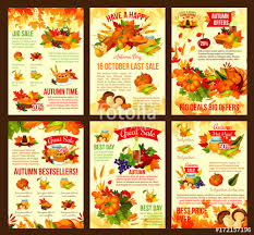 thanksgiving offers thanksgiving autumn vector discount sale posters stock image and