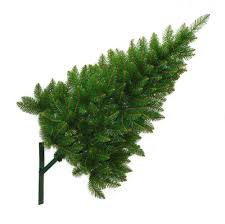 half christmas tree outdoor wall mounted christmas tree 4ft 1 2m with fixing bracket
