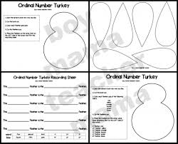 Thanksgiving Worksheets For 3rd Grade Teacher Mama Free Thanksgiving Ordinal Number Activity Page
