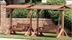 arbor swing plans free free standing porch swing standard bench swing seats 2 adults