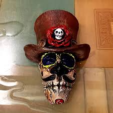 La Muerte Costume Amado Hasta La Muerte Or Day Of The Dead Bronze Mask By Bryan Tubbs