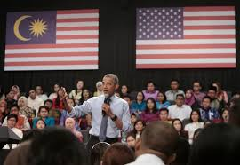 Barack Obama Flag Malaysia Obama Calls On Youth To Reject Extremism Behind Paris