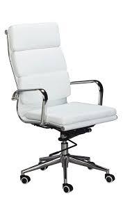 White Swivel Office Chair Amazon Com Eames Replica High Back Office Chair White Vegan