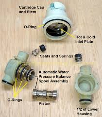 Repair Delta 1700 Series Shower Faucet Delta Shower Cartridge Rp19804 Disassembly Lower Housing