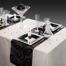 decoration mariage noir et blanc décoration de table de mariage en noir gris blanc décoration