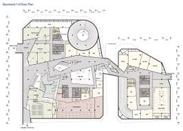 basement plan gallery of kt landmark tower studio daniel liebeskind g lab