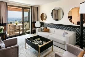 sea view living room prestige terrace sea view suite hôtel barriere le gray d u0027albion