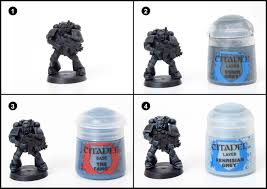 tutorial how to paint iron hands space marines tale of painters