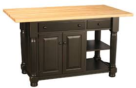 Kitchen Island With Butcher Block by Hickory Wood Nutmeg Raised Door Butcher Block Kitchen Island