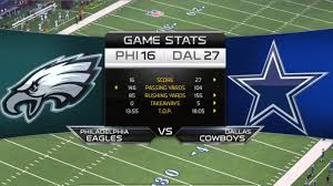 eagles vs cowboys thanksgiving stats the best eagle of 2018
